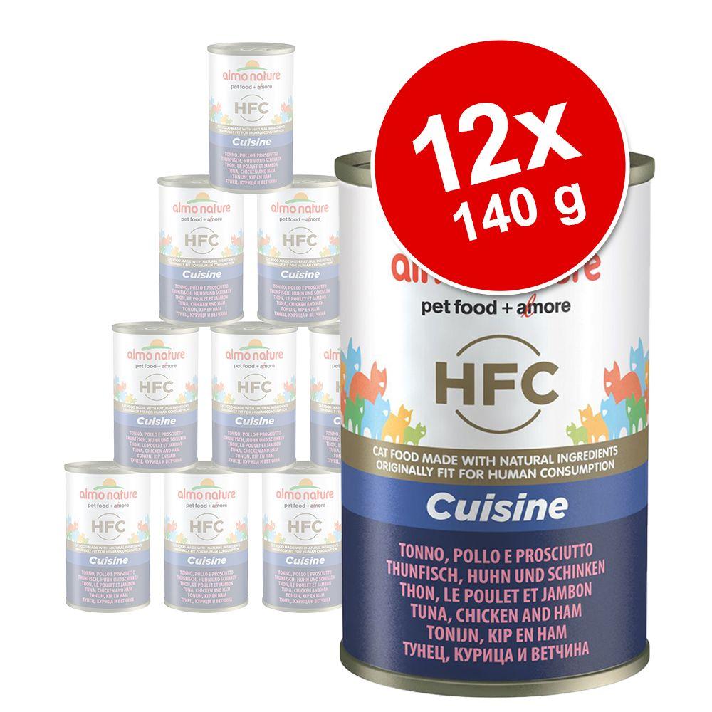 Ekonomipack: Almo Nature HFC 12 x 140 g - Tonfisk, kyckling & skinka