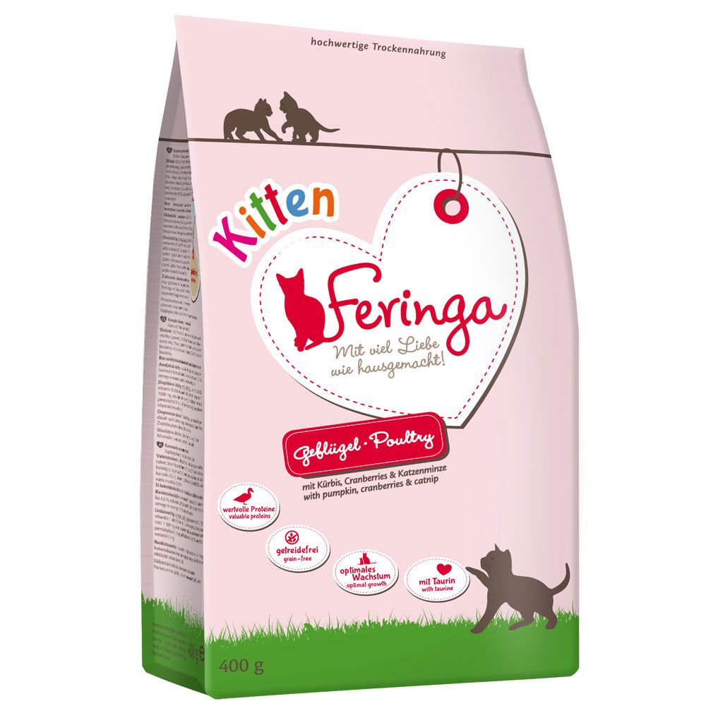 Feringa Kitten Starter-Pack + Toy - 400g Dry Food + 6 x 200g Turkey