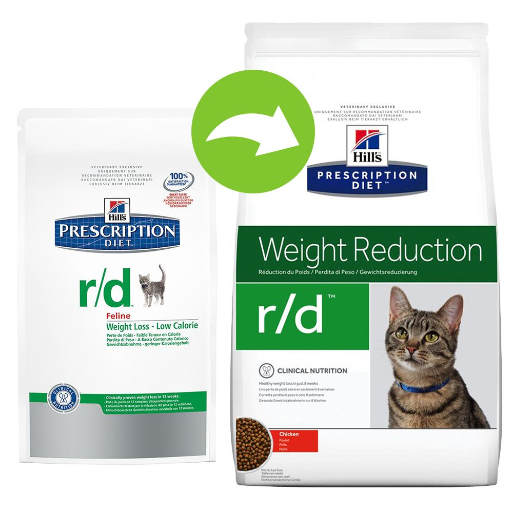 Foto Hill's r/d Weight Reduction Prescription Diet Feline secco - 5 kg Hill's Prescription Diet Diabete e sovrappeso