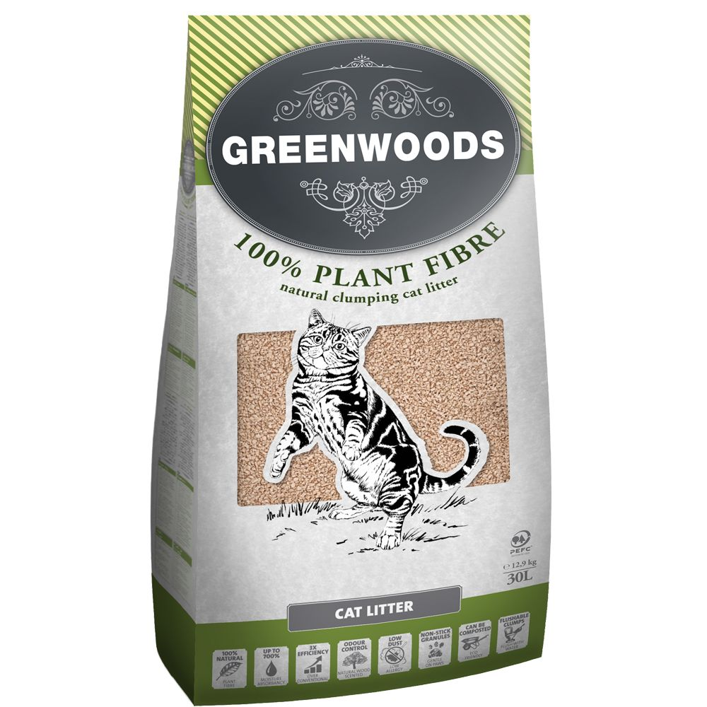 Natural Clumping Greenwoods Cat Litter