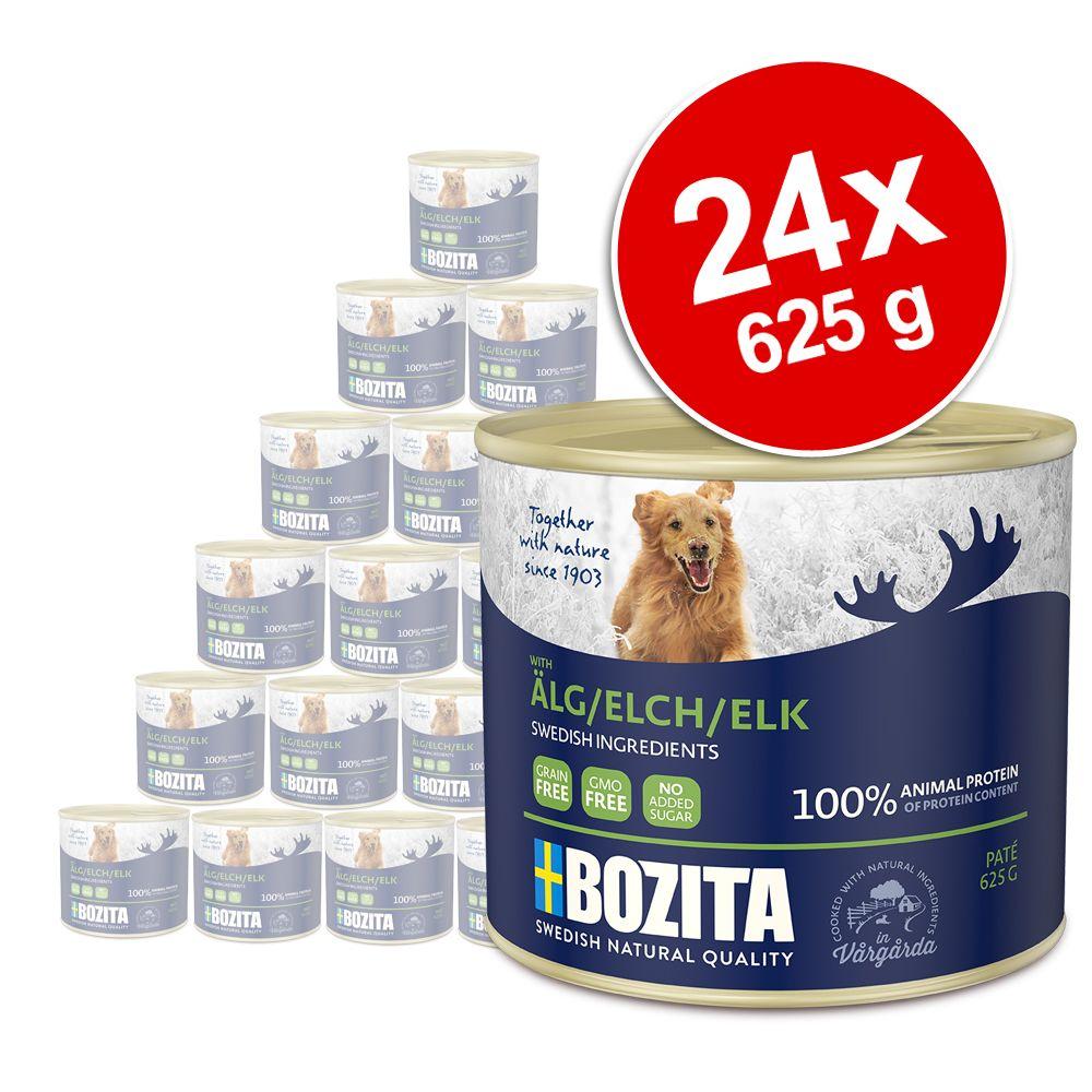 24x625g Bozita Paté élan - Pâtée pour chien