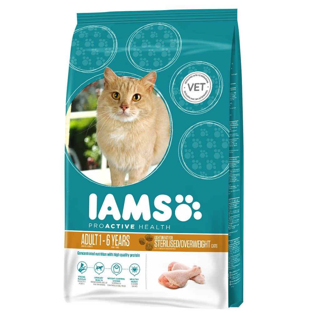 Chat Croquettes Iams Light