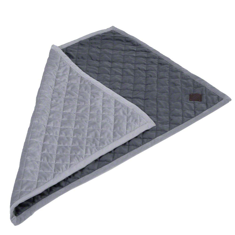 Image of Coperta Velvet grigio granito - L 100 x P 70 cm