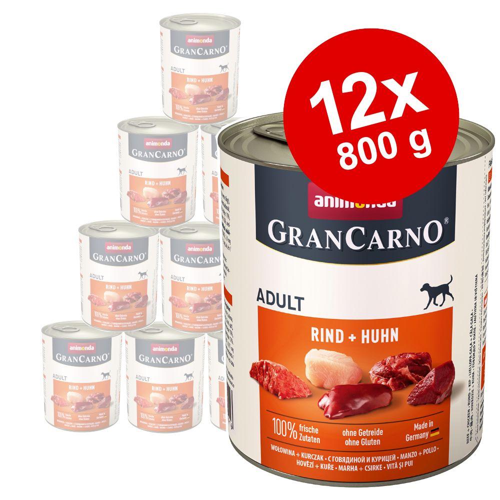 Sparpaket Animonda GranCarno Original 12 x 800 g - Exklusive Edition Mixpack (3 Sorten)