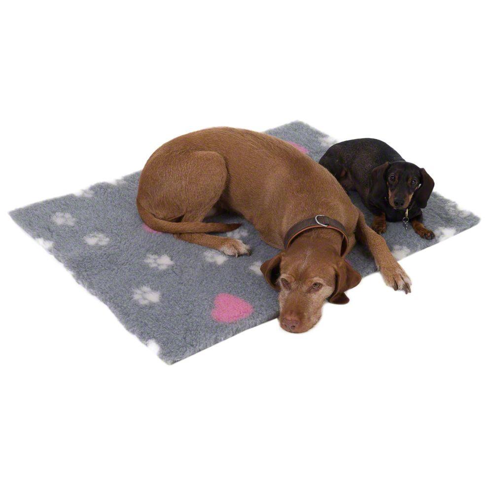 Image of Coperta Isobed grigia con zampine per cani e gatti - L 100 x P 75 cm