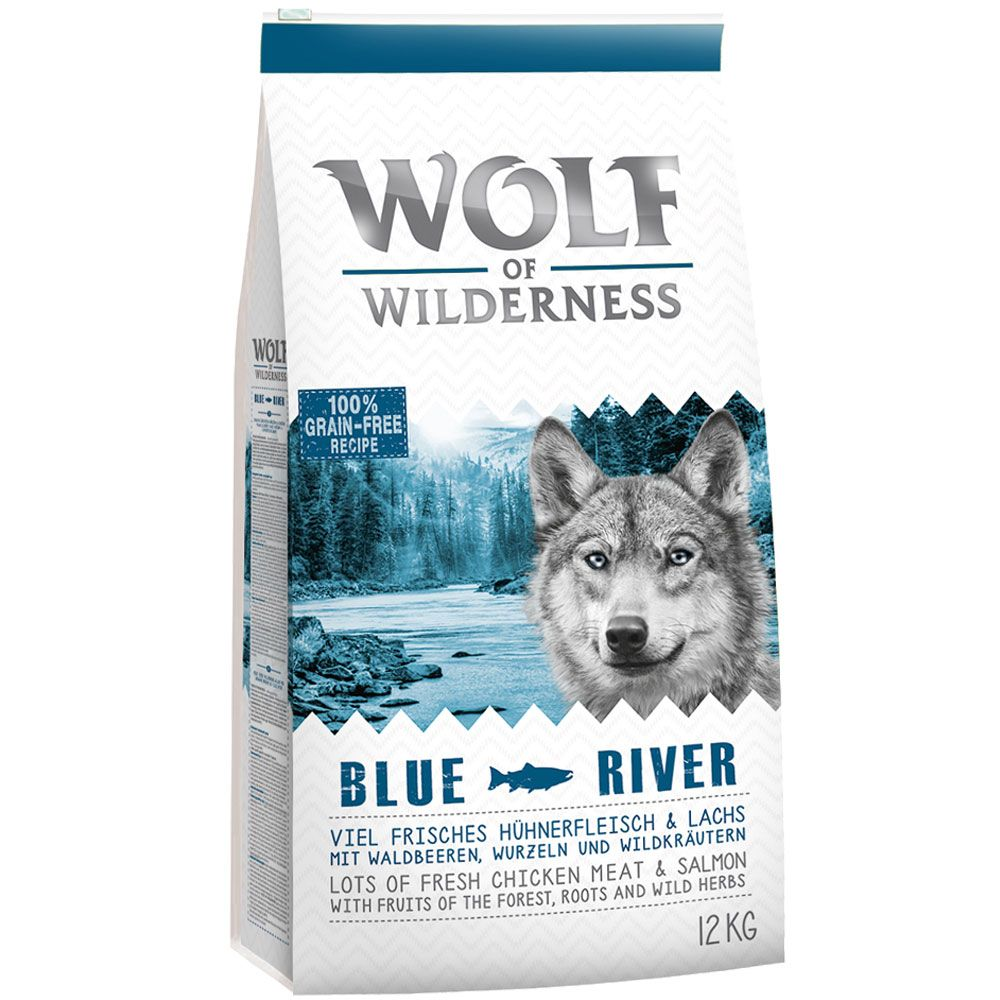 Wolf of Wilderness Blue River con salmón - 12 kg