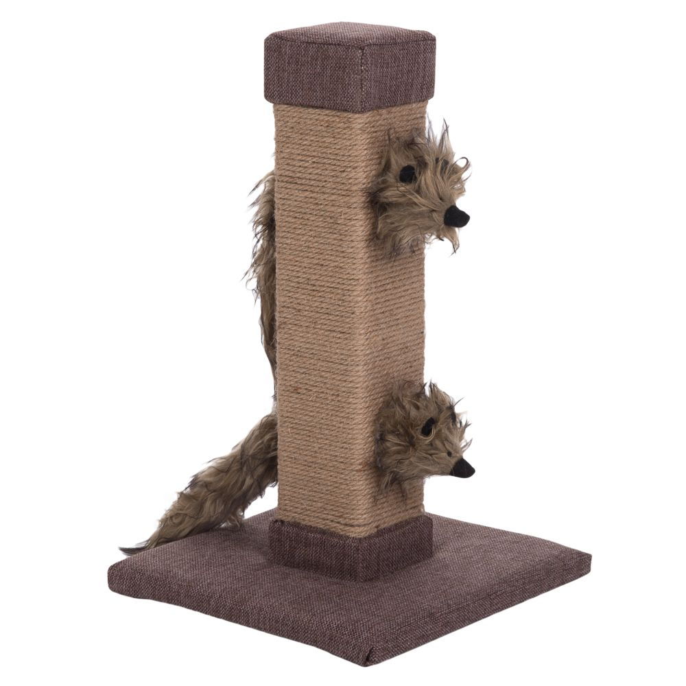 Silver Vine Scratching Post - Brown