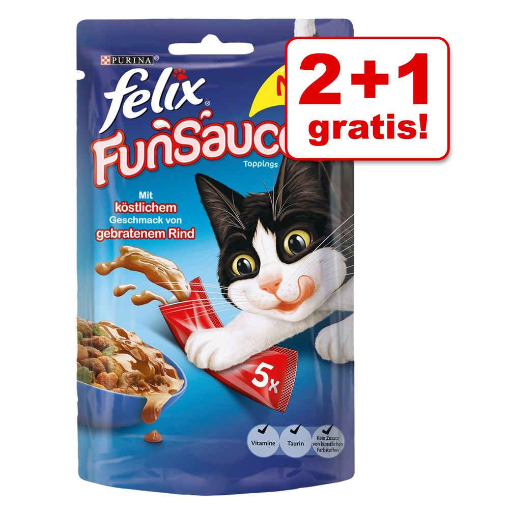 2 + 1 gratis! 3 x 5 Stk. Felix FunSauces - Meer...