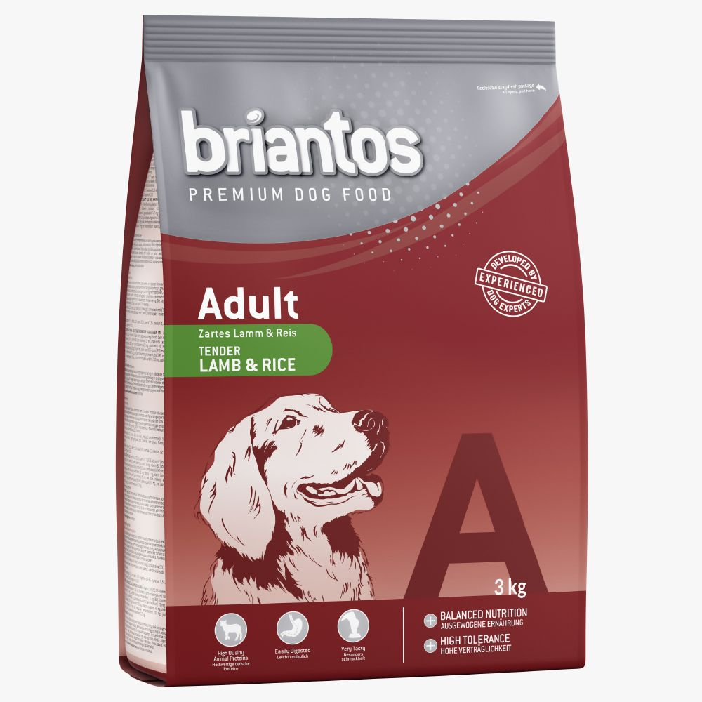 Click to view product details and reviews for Briantos Adult Mixed Trial Pack 2 X 3kg Salmon Rice Chicken Rice.