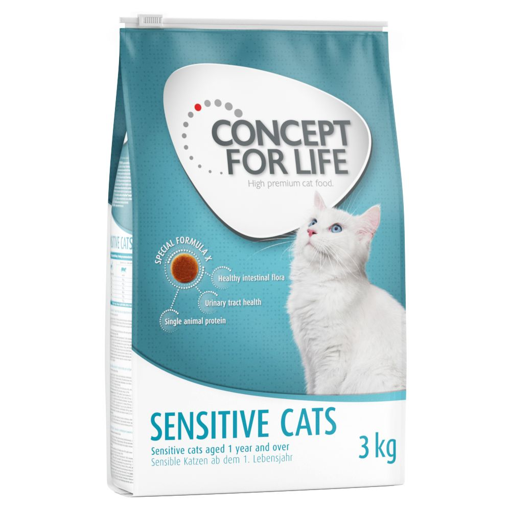 9kg/10kg Concept for Life Dry Cat Food + GimCat Pudding Treat Free