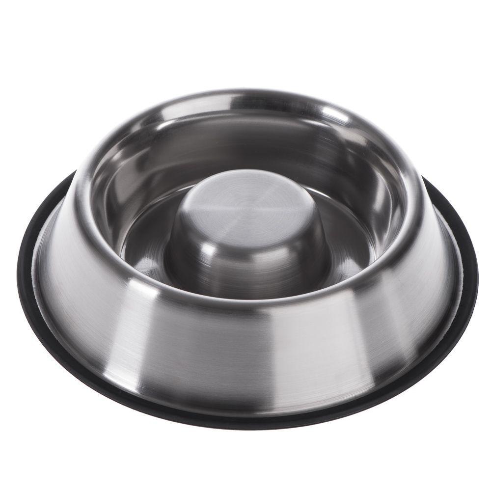 Antislukskål av rostfritt stål - 530 ml, Ø 22,5 cm