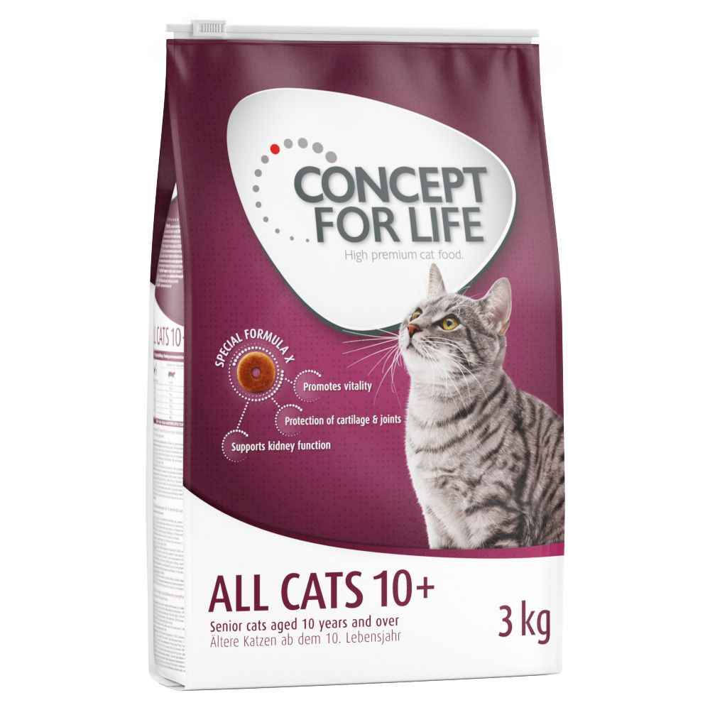 Concept for Life All Cats 10+ - Ekonomipack: 3 x 3 kg