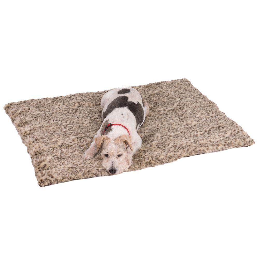 Leo Fleece Reversible Dog Blanket - Leopard Print 100x70x3cm