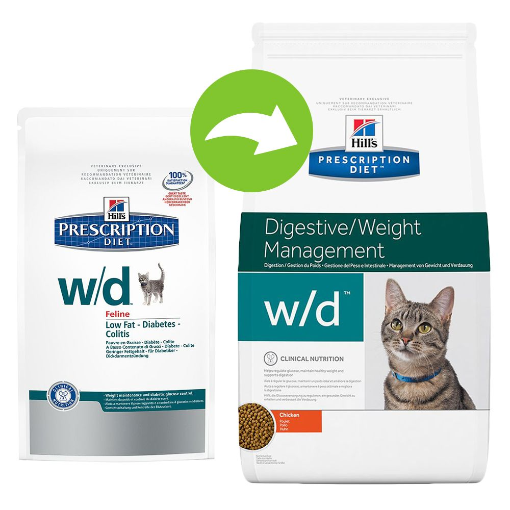 Hill's Prescription Diet Feline w/d - Digestive/Weight Management - 1.5kg