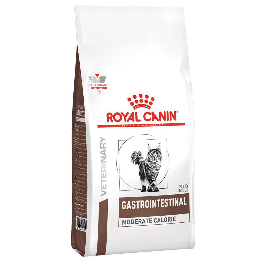 2x4kg Intestinal Moderate Calorie Royal Canin Vet Diet Dry Cat Food Economy