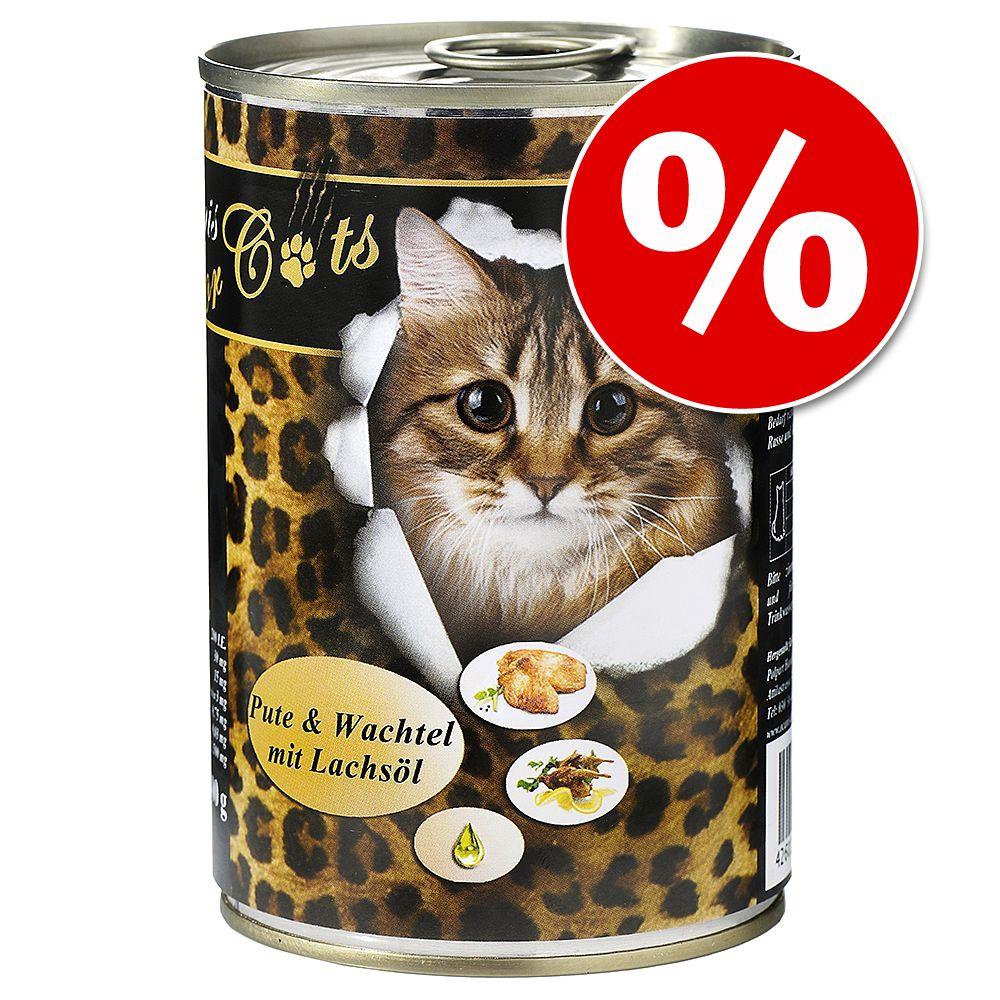 6 x 400 g O'Canis karma dla kota w super cenie! - Gęś, kurczak i olej szafranowy