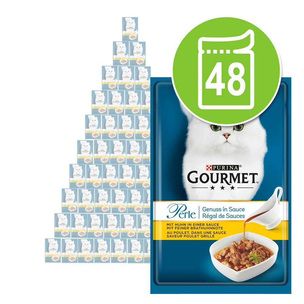 Ekonomipack: Gourmet Perle Delicious Sauce 48 x 85 g - Nötkött i sås med en fin stekdoft