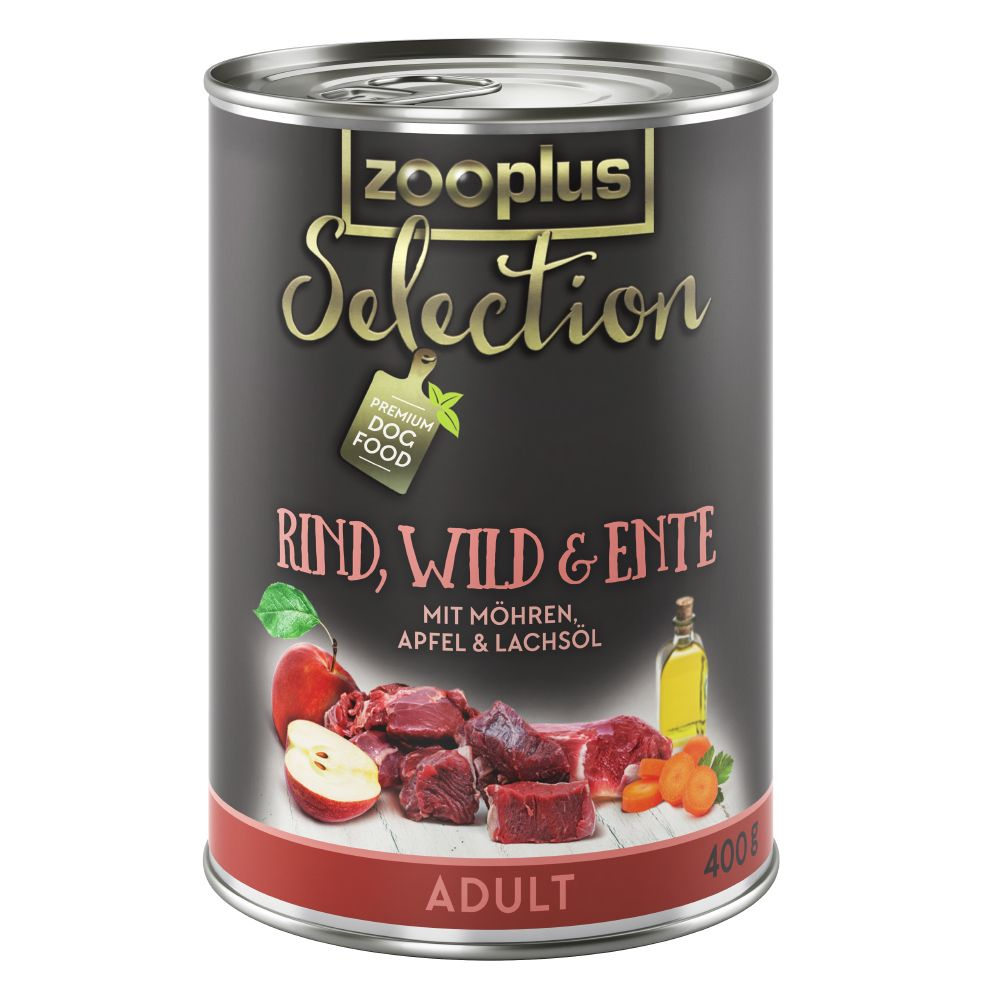 zooplus Selection Saver Pack 24 x 400g - Adult Active Pure Chicken