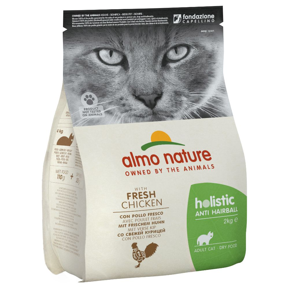 Almo Nature Holistic Anti Hairball Chicken & Rice - Ekonomipack: 2 x 2 kg