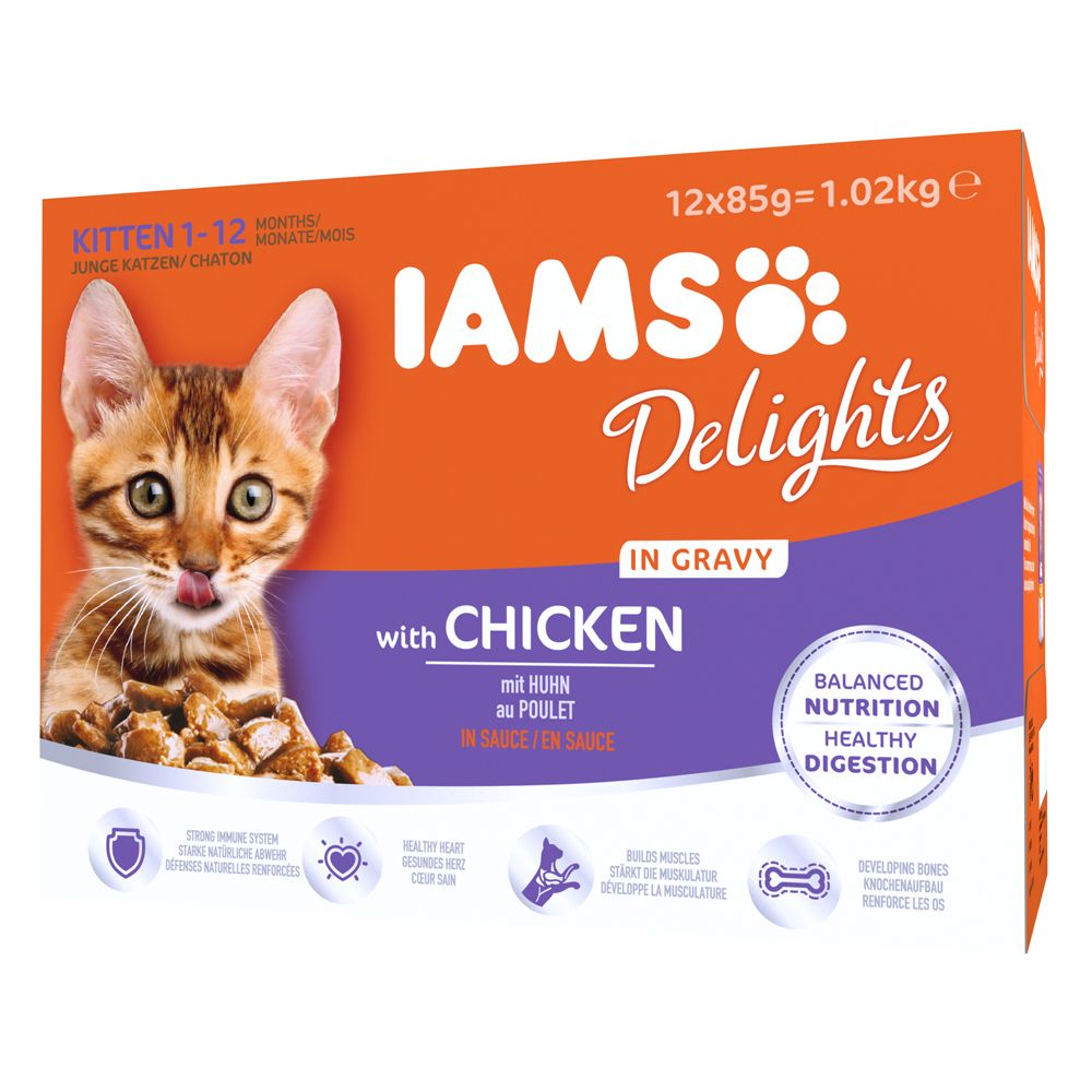 Kitten Chicken in Gravy IAMS Delights Wet Cat Food