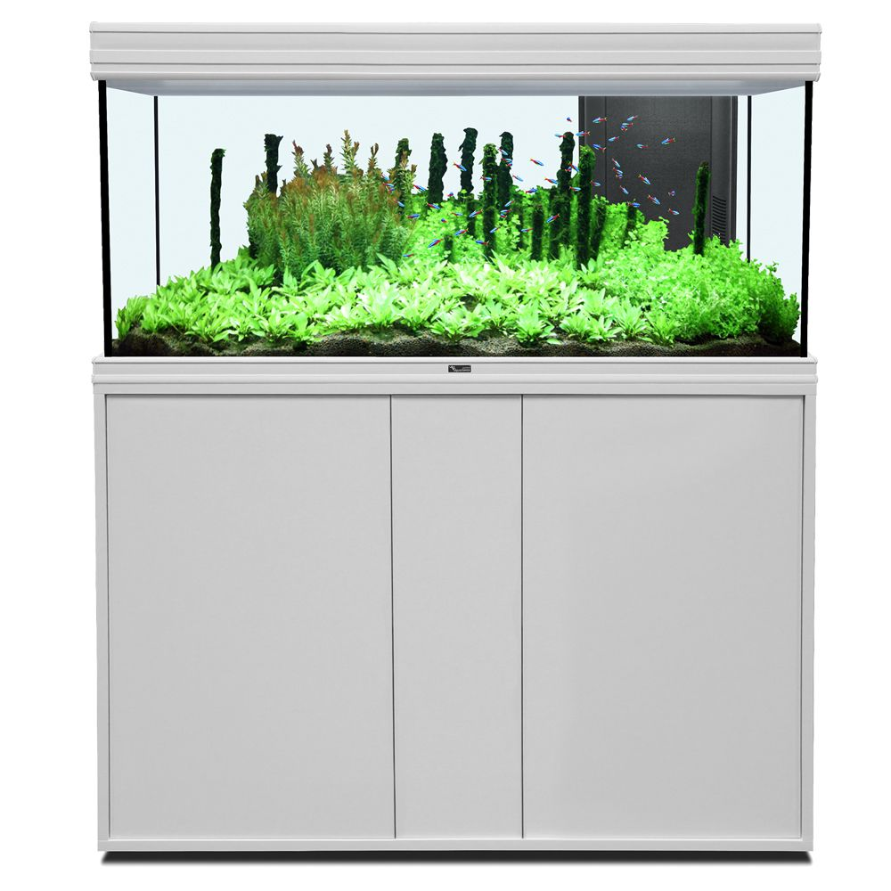Image of Set acquario + supporto Aquatlantis Fusion 120 x 40 LED - bianco