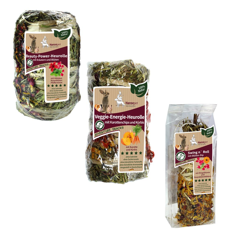 Hansepet Mixed Hay Rolls - 3 pack (470g)