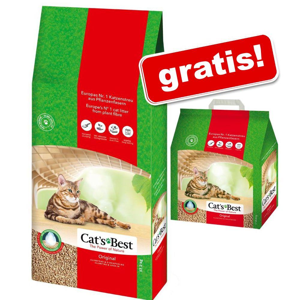 40 l + 5 l gratis! 45 l Cat's Best Original Katzenstreu - 40 l + 5 l gratis!