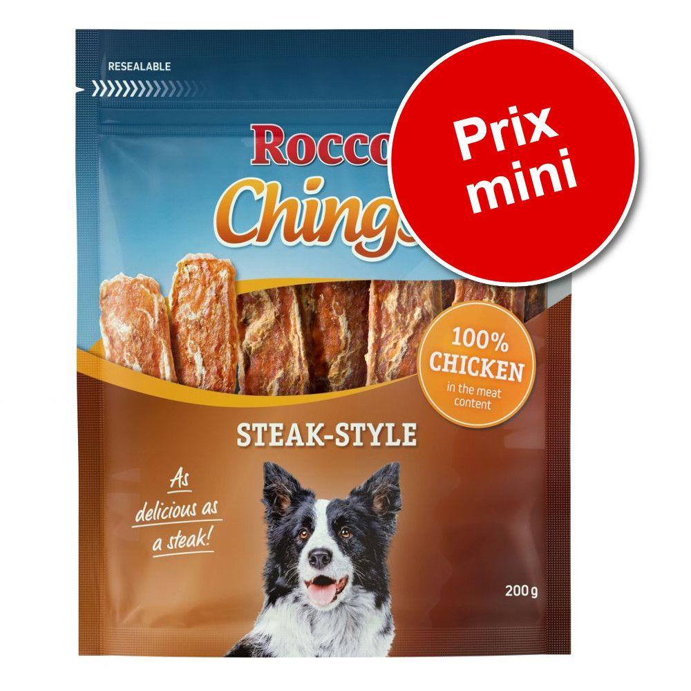 Friandises Rocco Chings Steak Style 2 x 200 g à prix spécial ! - poulet (2 x 200 g)