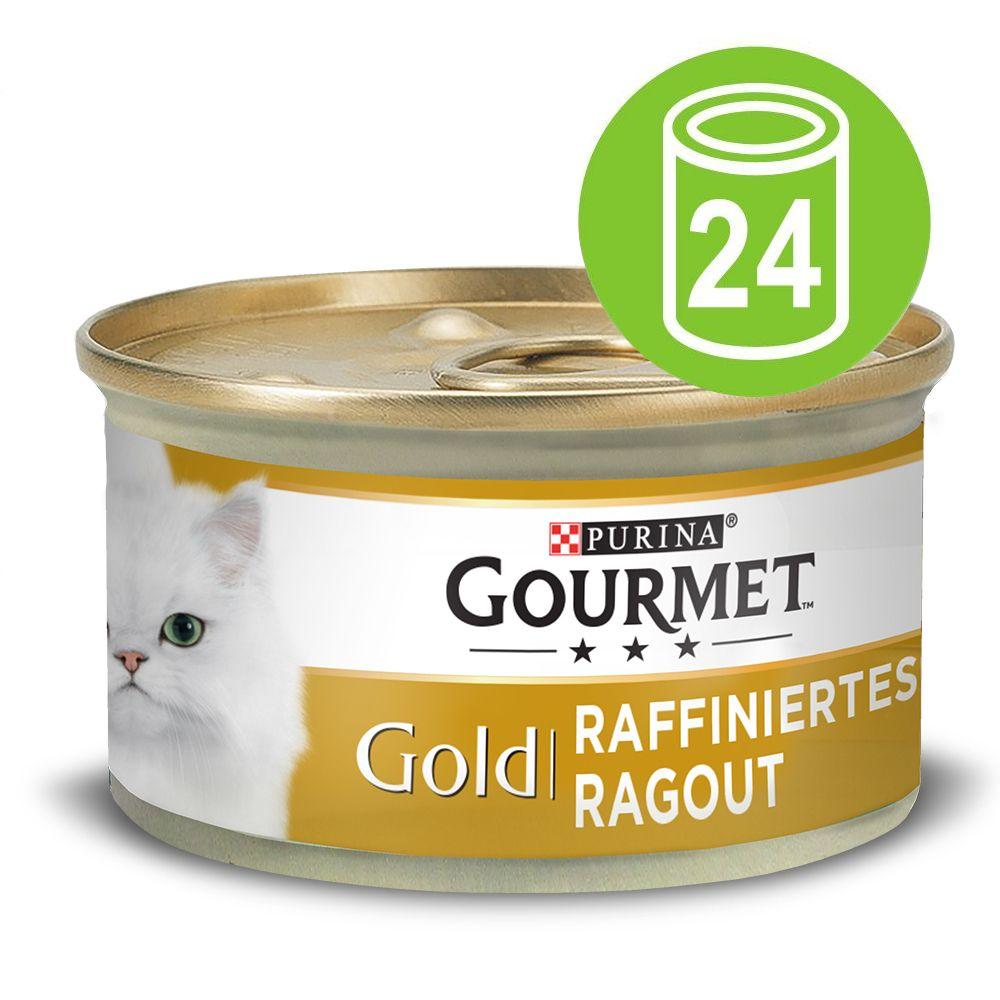 24x85g boeuf Recettes raffinées bœuf Gold Gourmet - Nourriture pour Chat