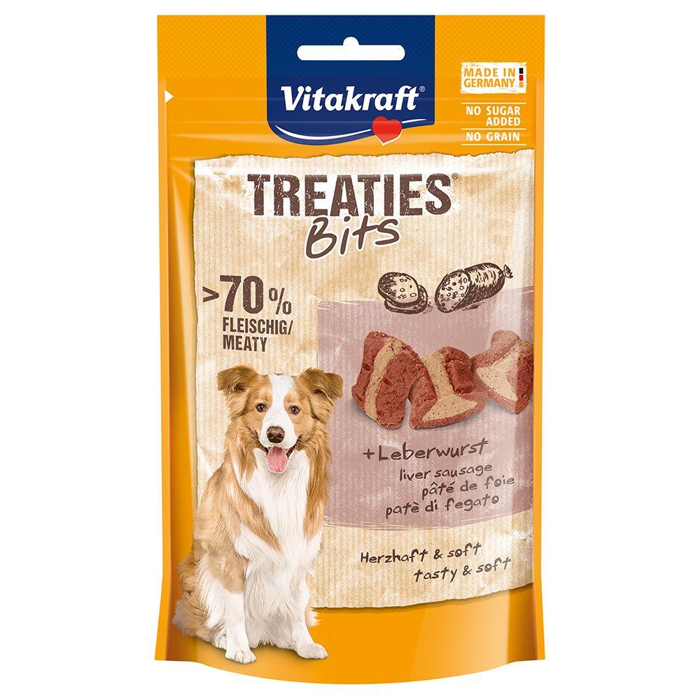 Die fleischigen Treaties Bits mit herzhafter Leberwurst werden in einem einzigartigen Verfahren hergestellt - mit besten Zutaten und nach zuckerfreier Rezeptur. Das Besondere: Jeder Snack-Happen ist schmackhaft gefüllt und wird schonend im Ofen gegart. Dadurch sind die Treatie...