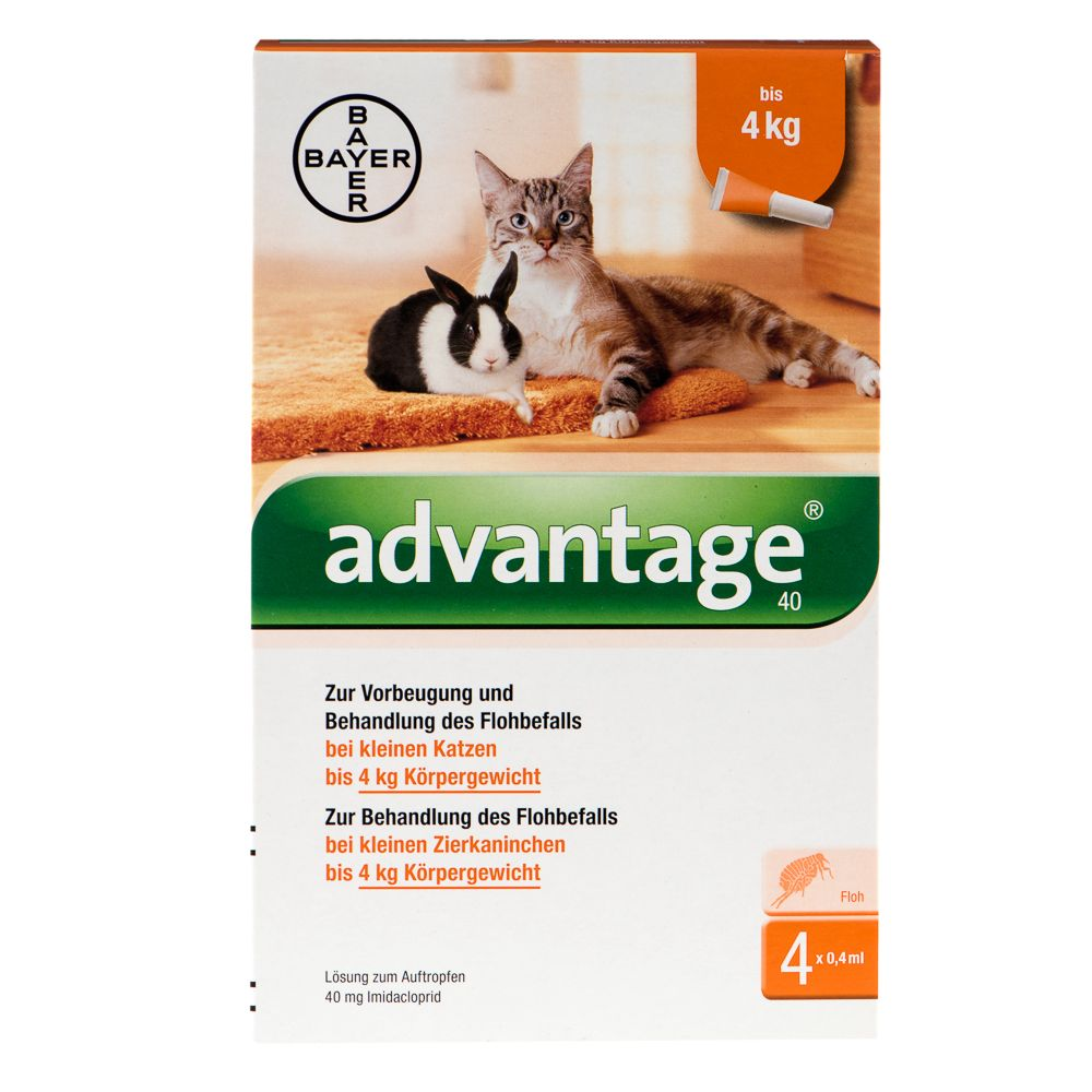 Advantage® für Katzen und Zierkaninchen - 80 mg...