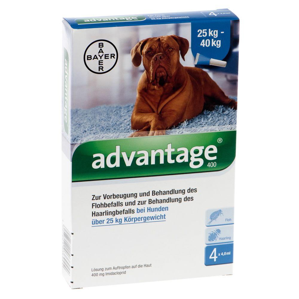 Advantage® 400 für Hunde - 400: >25 kg (4 Pipet...