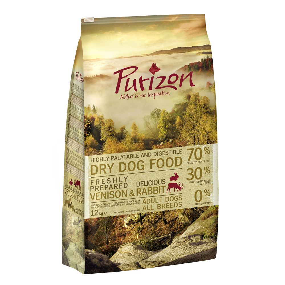 12kg Purizon Grain-Free Dry Dog Food + 250g Rocco Chings Dried Chicken Breast Free