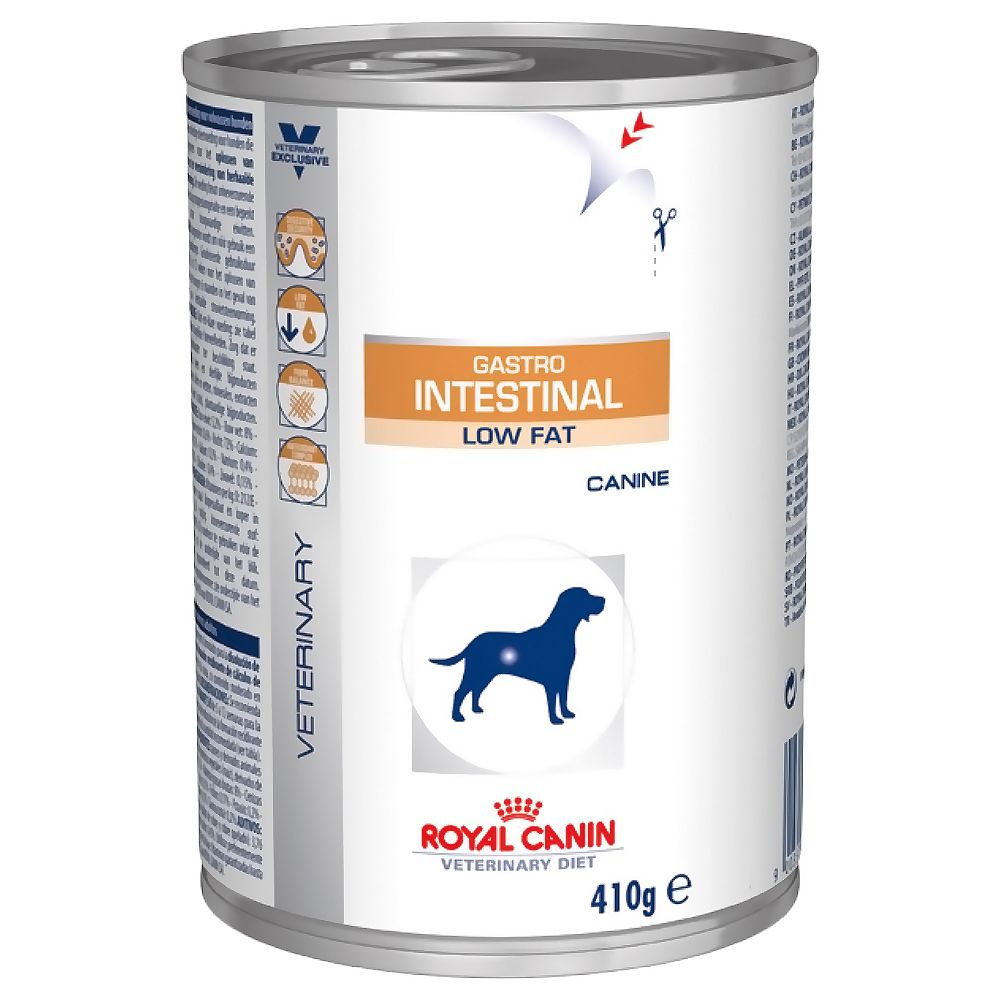Royal Canin Veterinary Diet Dog - Gastro Intestinal Low Fat - 12 x 410g