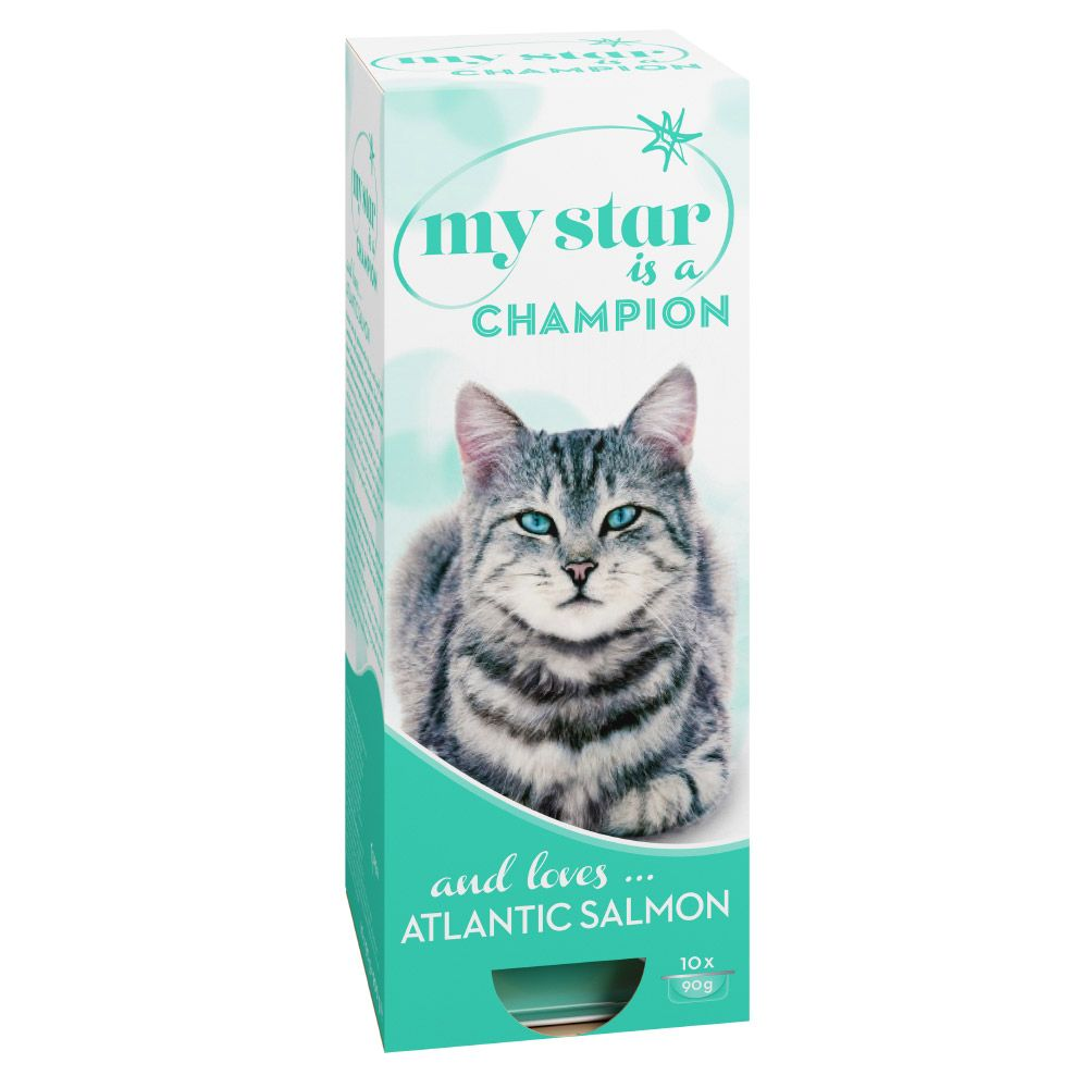 10 x 90g My Star Wet Cat Food + My Star Creamy Snack Pack