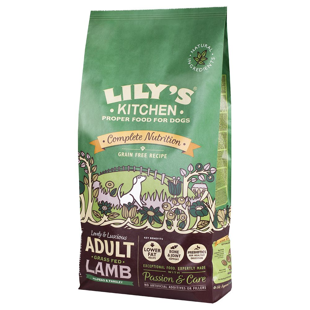 Lily's Kitchen Adult Grass Fed Lamb Grain Free Dry Food for Dogs - Economy Pack: 2 x 7kg