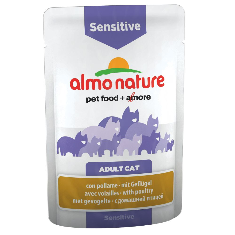 Almo Nature Sensitive Pouch med fågel - 6 x 70 g