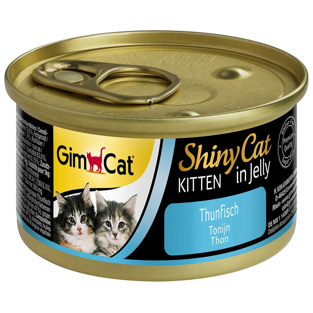GimCat ShinyCat Jelly Kitten 6 x 70g - Tuna