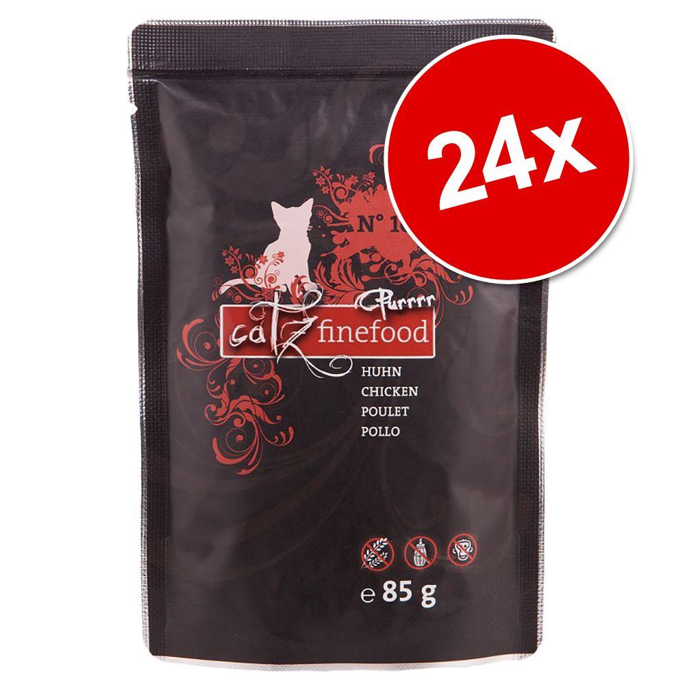 Ekonomipack: Catz Finefood Purrrr Pouch 24 x 80/85 g - No. 103 kyckling