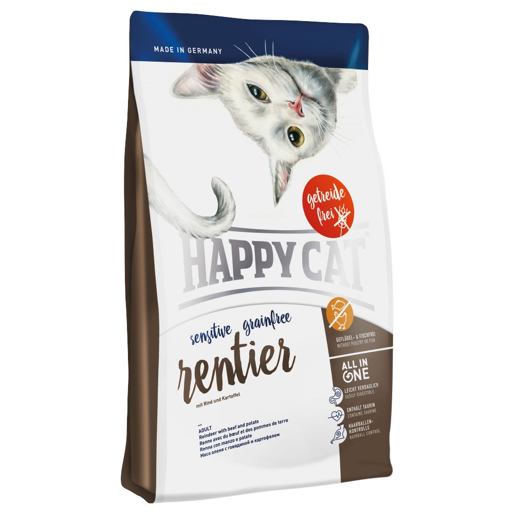 Happy Cat Sensitive Grainfree, renifer - 2 x 4 kg