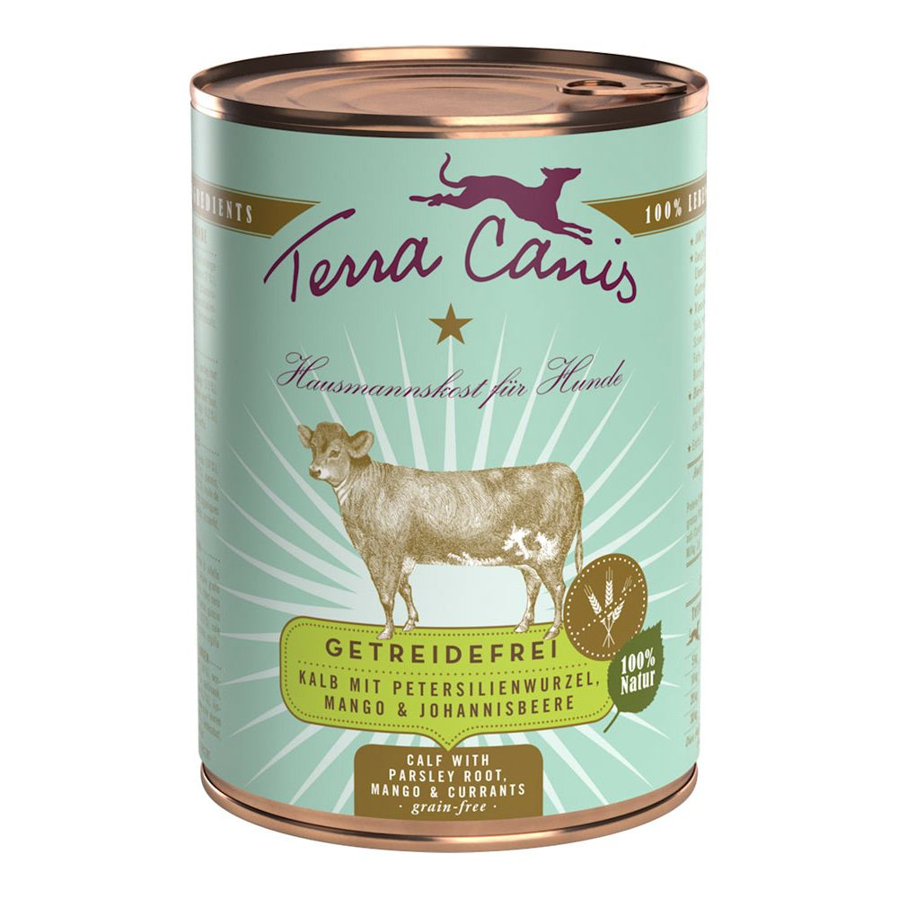 Terra Canis Grain-Free 6 x 400g - Rabbit with Zucchini, Apricots & Borage