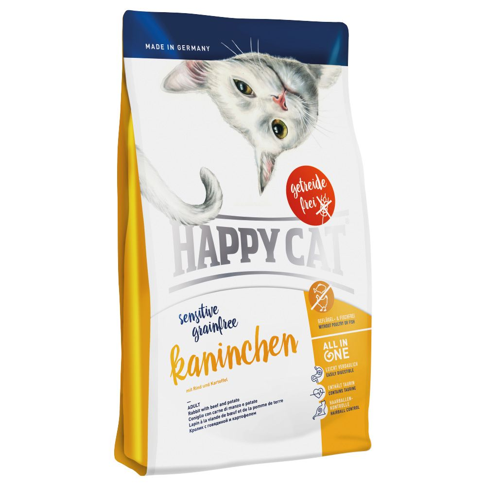 Happy Cat Sensitive Adult Grain Free Rabbit Dry Food 4kg