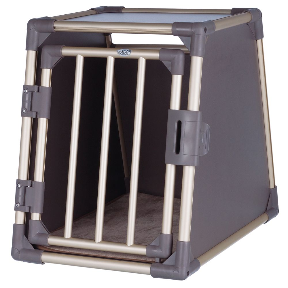 Trixie Aluminium Dog Crate - Grey - Size L: 88 × 78 × 64 cm (L x W x H)