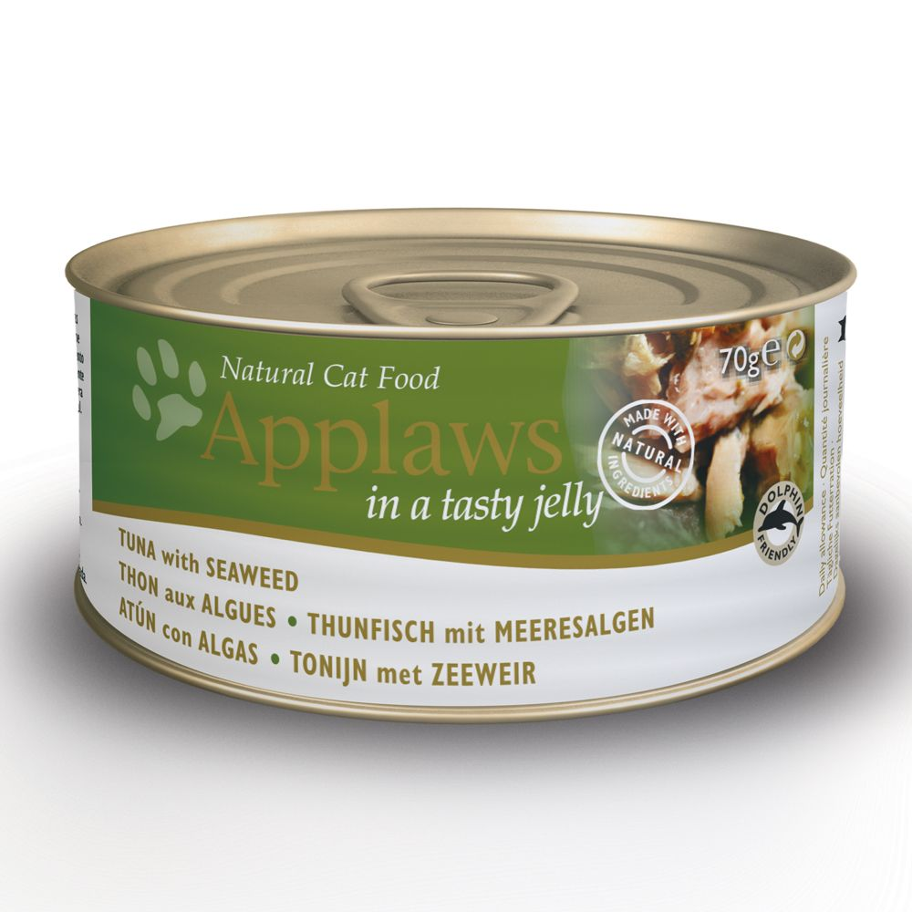 Applaws Cat Food in Jelly - Grain-Free 70g - Tuna with Seaweed 6 x 70g