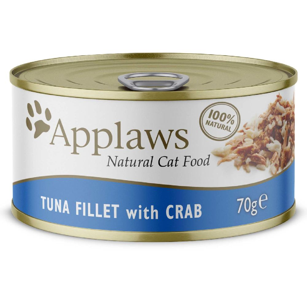 6x70g thon, crabe Applaws - Nourriture pour Chat