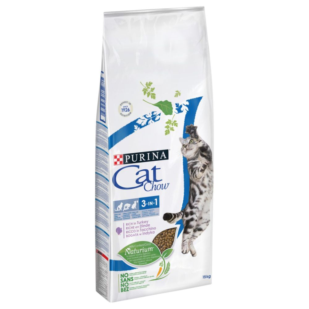 Cat Chow Special Care 3in1 Rich in Turkey - Ekonomipack: 2 x 15 kg