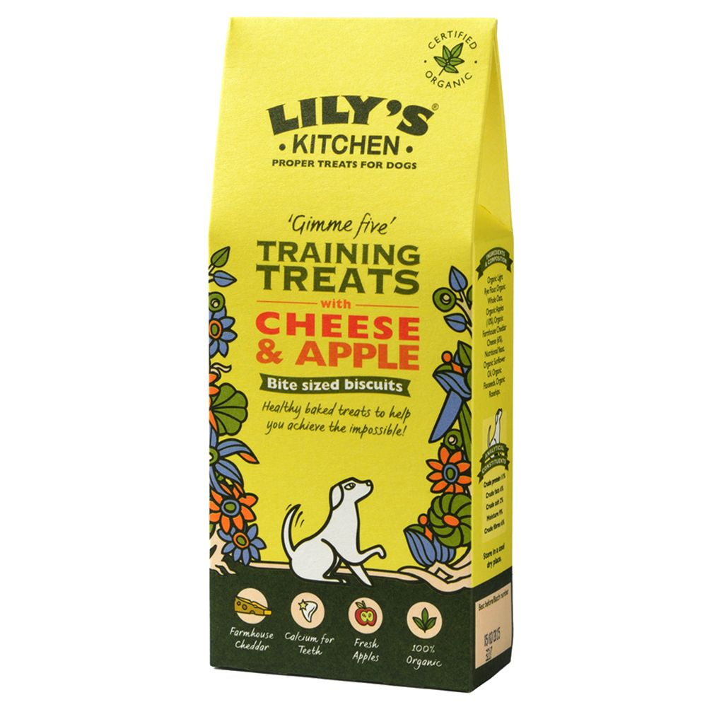 Lily's Kitchen Cheese and Apple Organic Treats for Dogs - Saver Pack: 6 x 100g