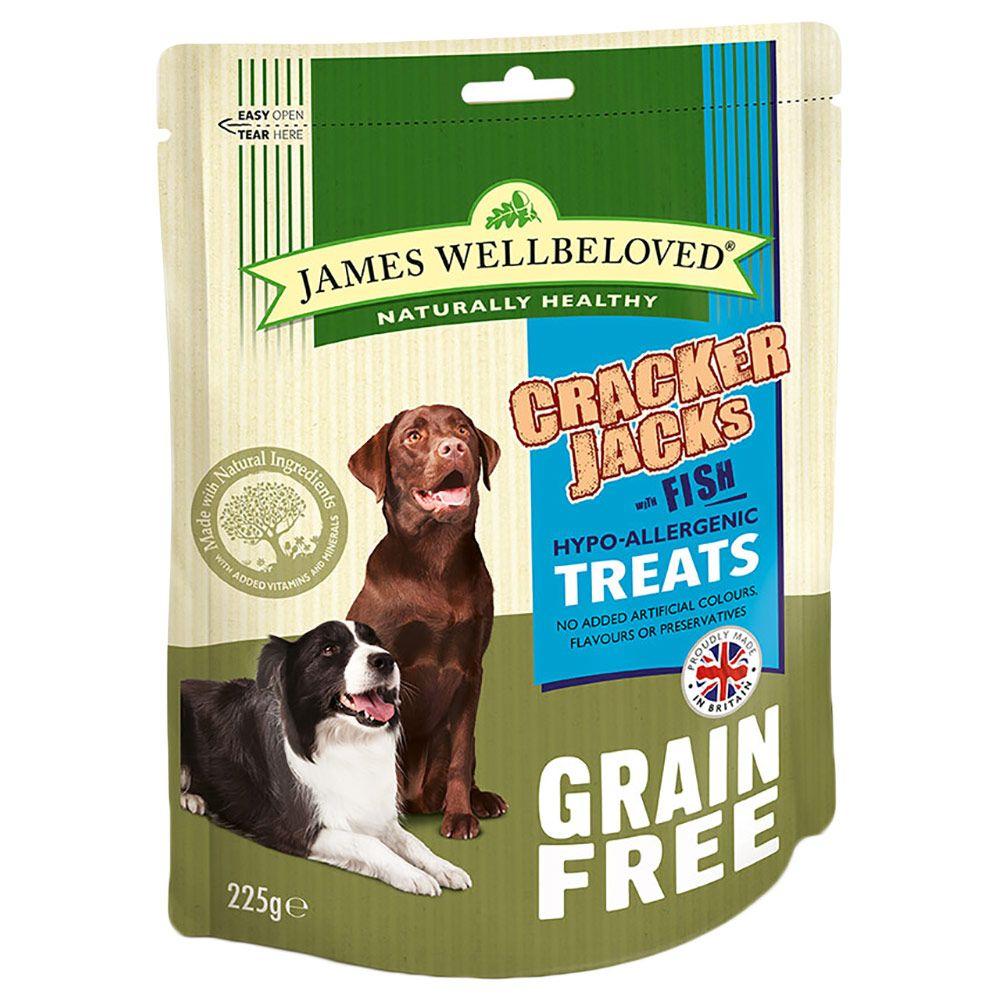 James Wellbeloved CrackerJacks Dog Treats – Fish - 225g