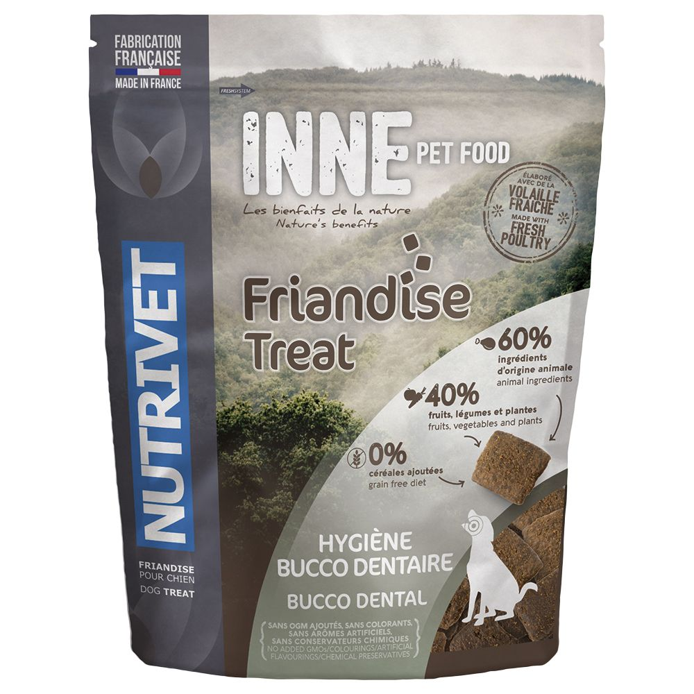 Nutrivet Inne Dog Treats - Bucco Dental - Saver Pack: 3 x 250g
