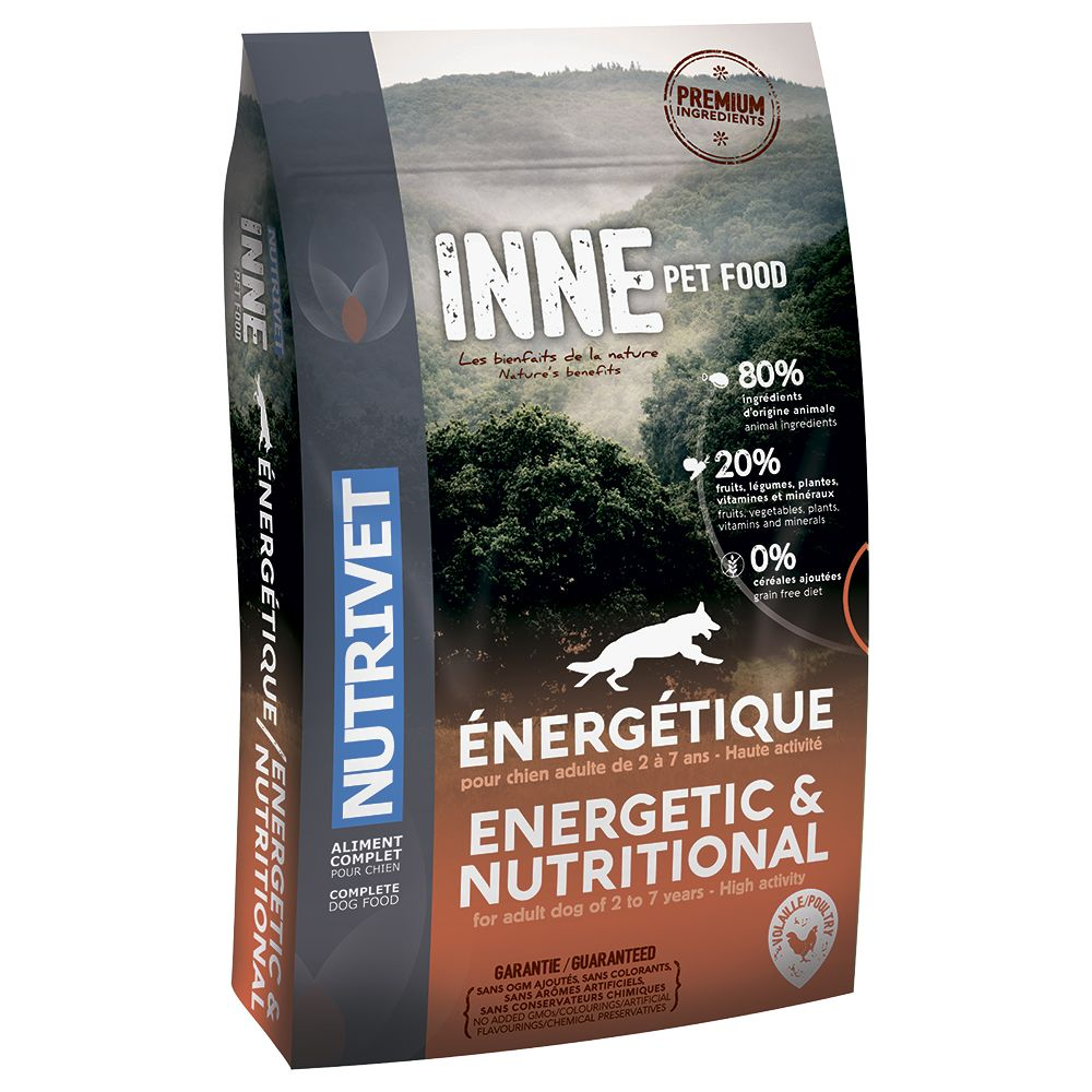 Nutrivet Inne Energetic Dry Dog Food - 12kg